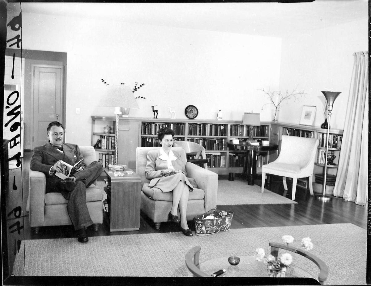 Mann, kvinne, interiør