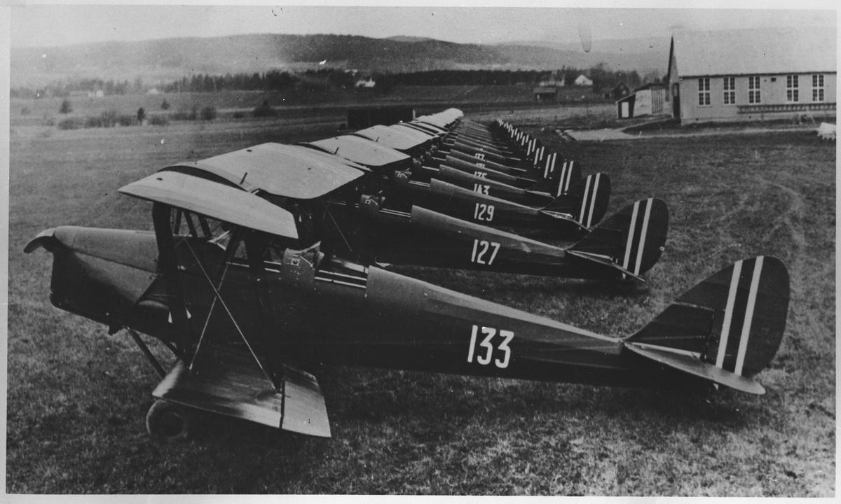 Flyene på Kjeller flyplass