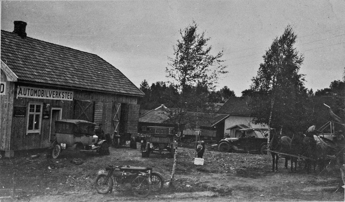 Automobilverksted på Eidsvoll Verk.