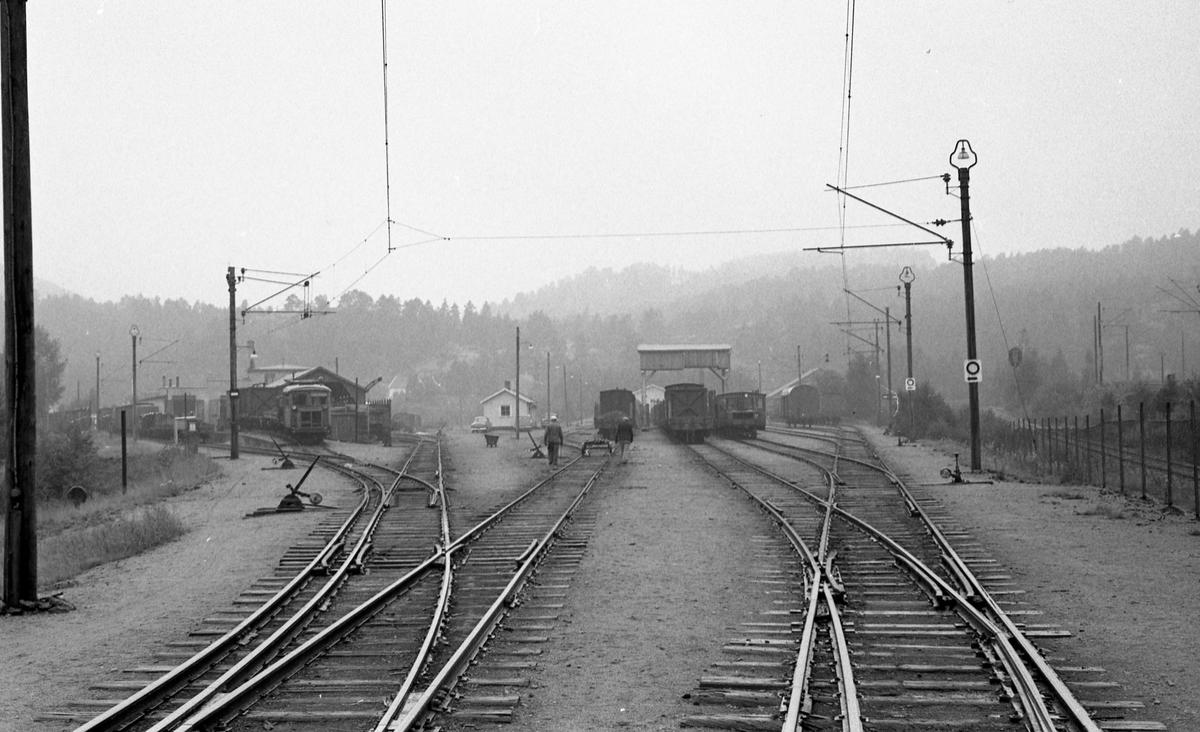 Omlastings- og skiftetomten på Grovane stasjon.