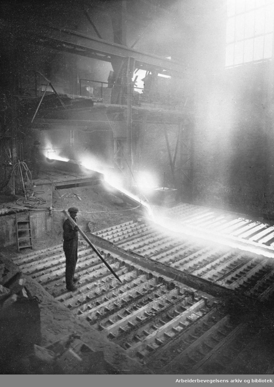 Fra råjernverket ved Christiania Spigerverk,.1930-35