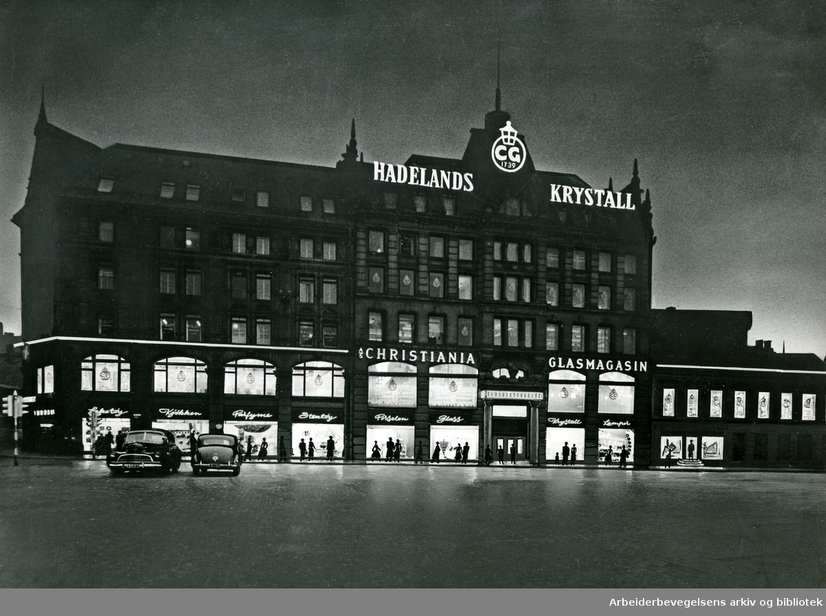 Glassmagasinet på Stortorget,.1956
