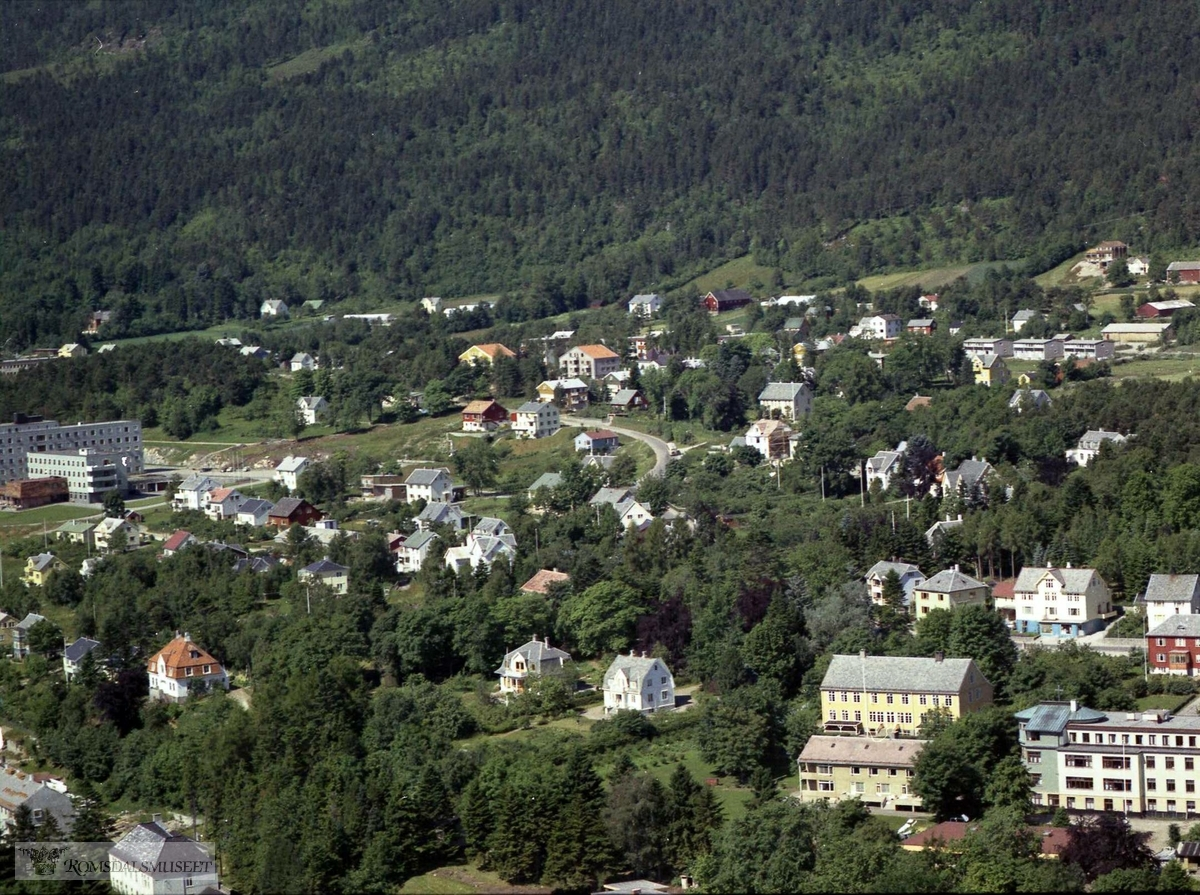 St. Carolus sykehus, Symra barnehjem, Molde sykehus til venstre..Parkveien, Symra Barnehjem, Sykehus