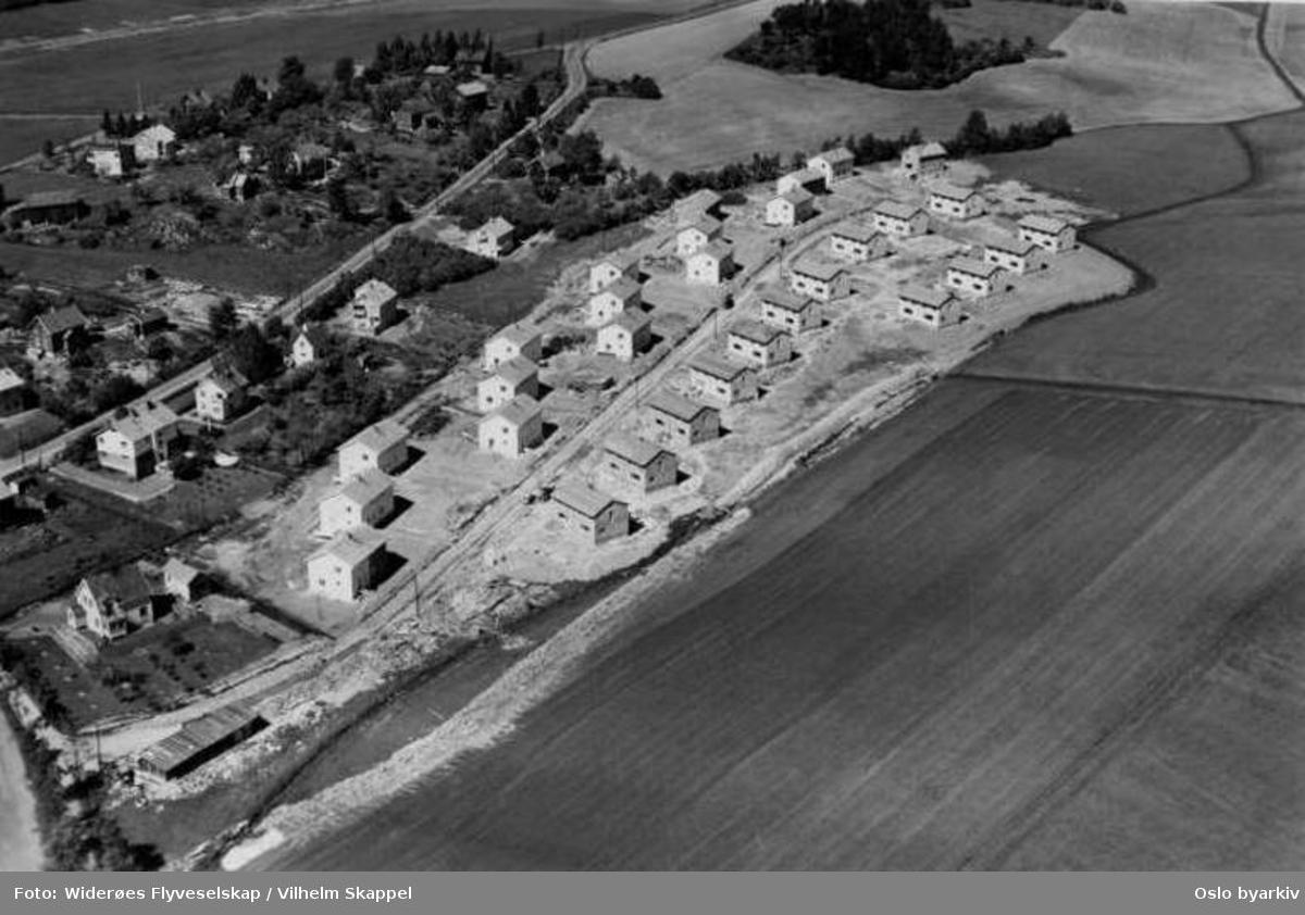 Vekterveien. Småhusbebyggelse (Flyfoto)