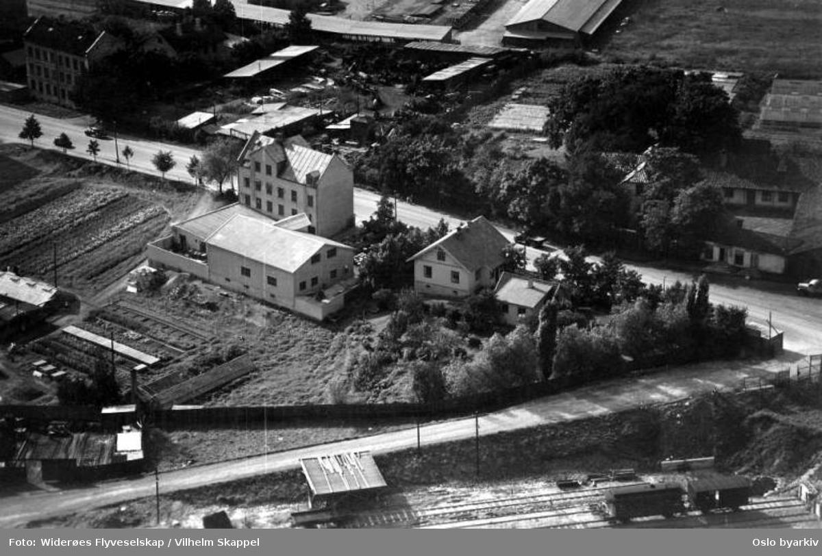 Grefsen, Standard Kjemiske fabrikk (Flyfoto)