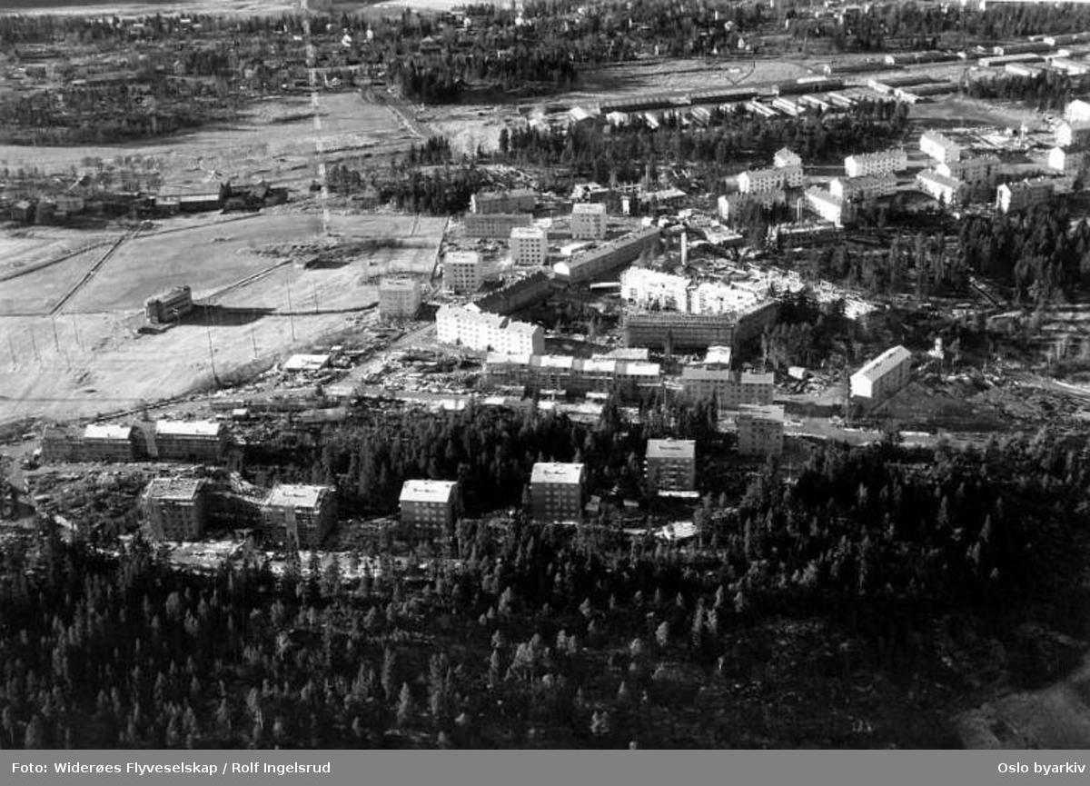 Lambertseter, Feltspatveien, Marmorberget, Marmorveien, Gina Krogs vei (Flyfoto)