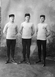 Skøyteløpere Hamar Idrettslag, H.I.L. F.v Mikael Jensen f, 1