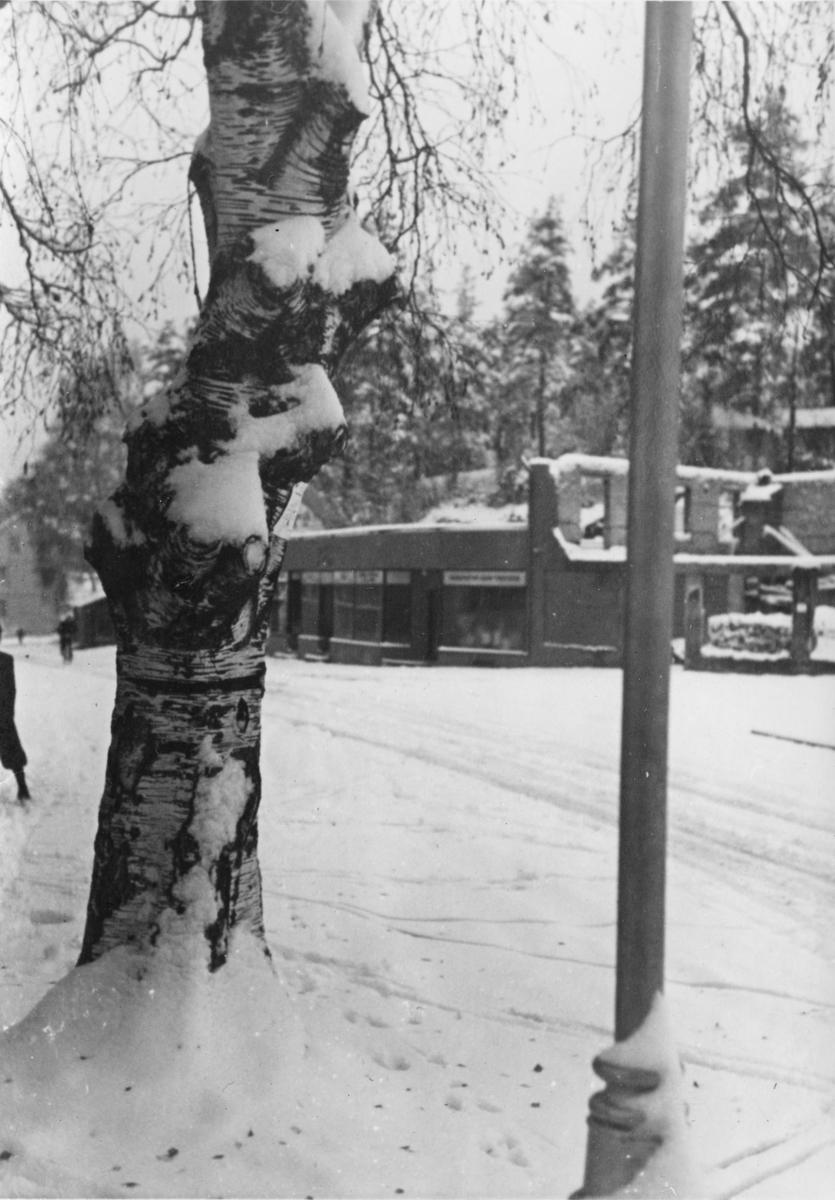 Storgata, Leiret, under krigen.