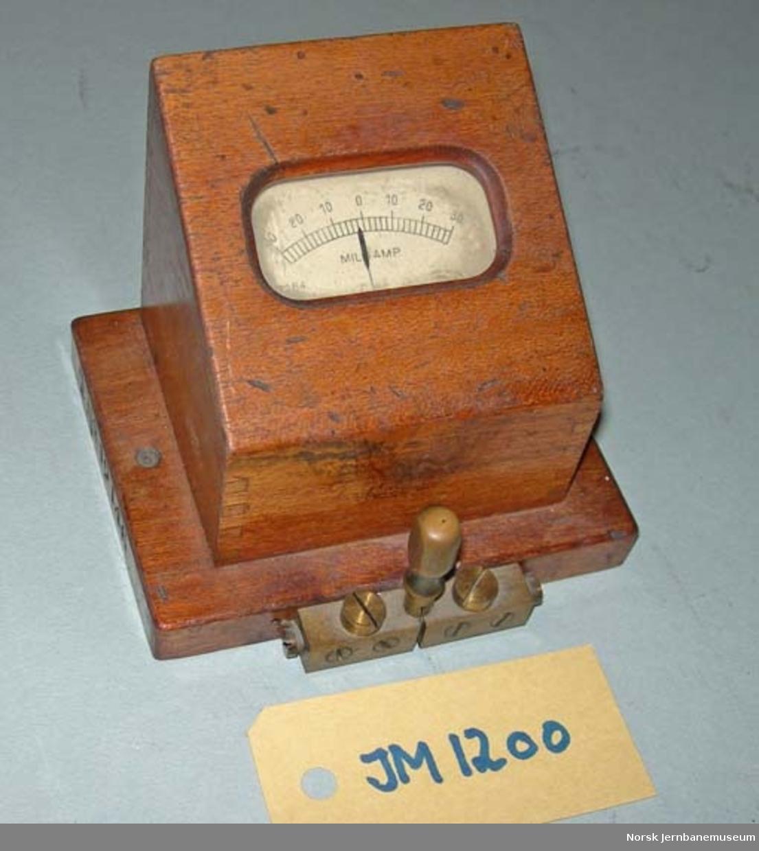 Milliampèremeter - kontroll av strøm i telegrafutstyr