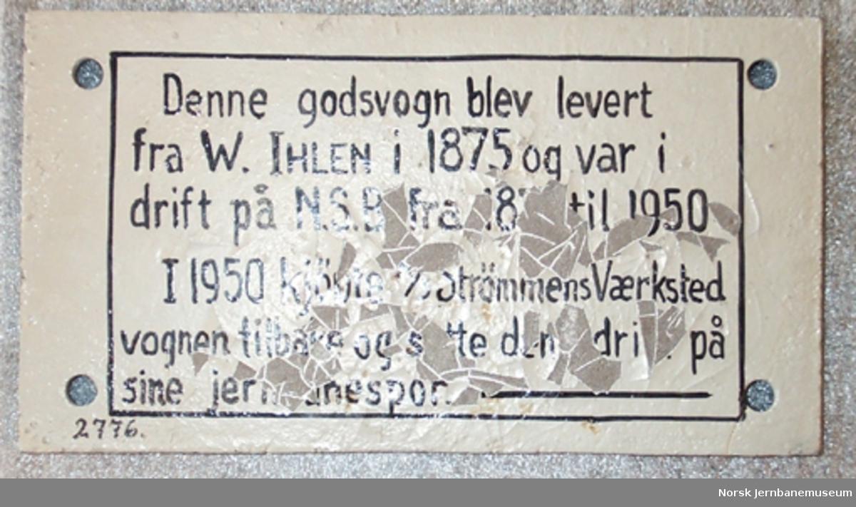 Fabrikkskilt fra W. Ihlen Strømmen