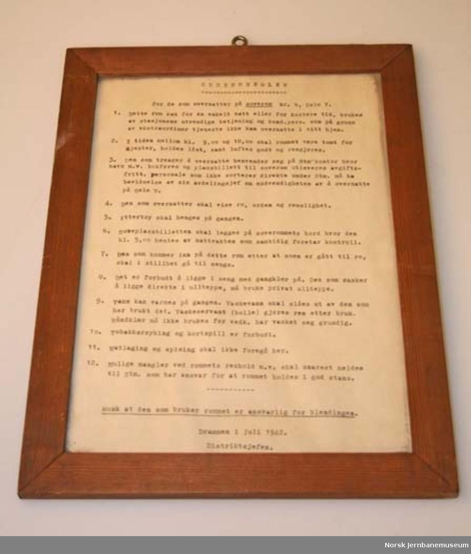 Ordensregler : i glass og ramme