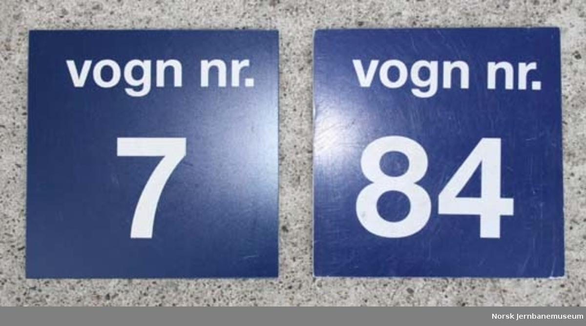 Vognnummerskilt (vognkurs)