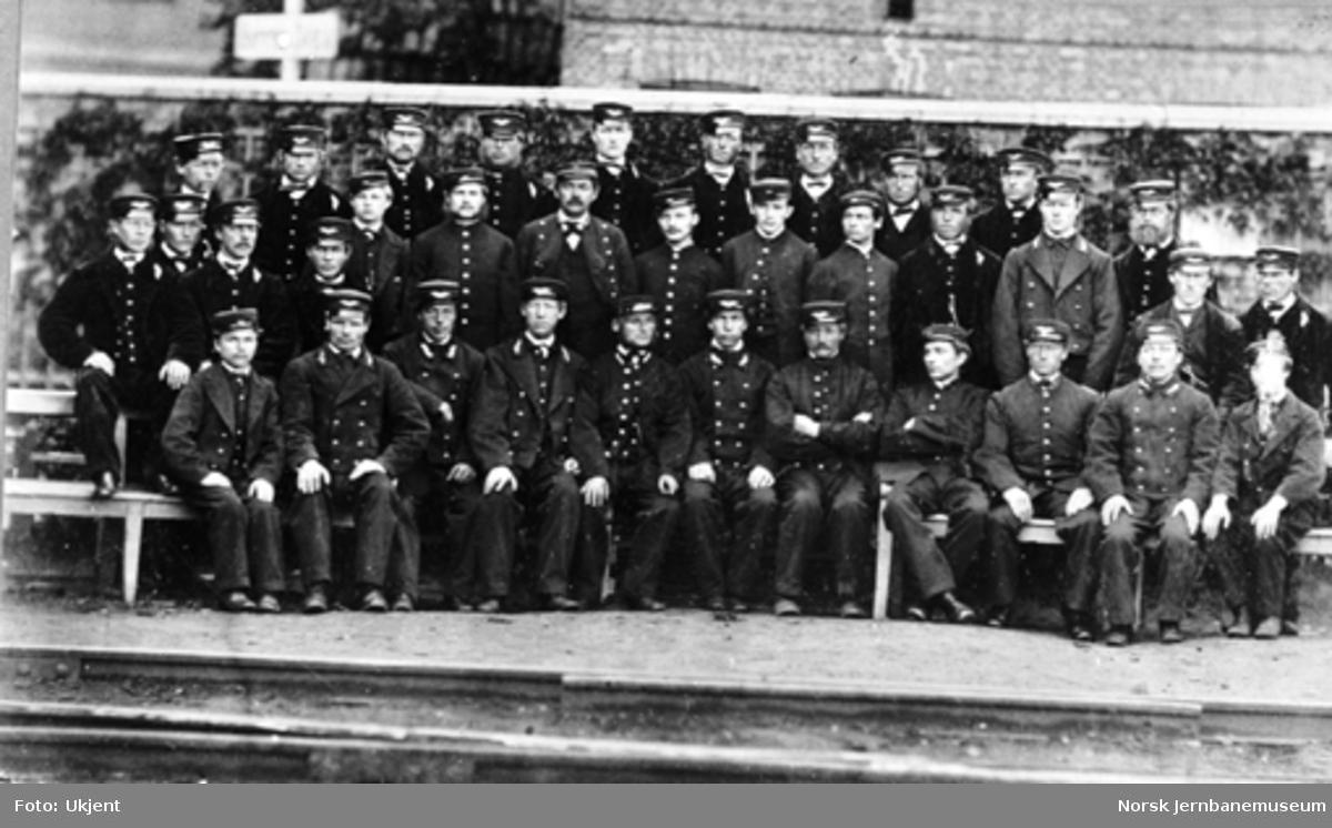 Personalet ved Christiania stasjon