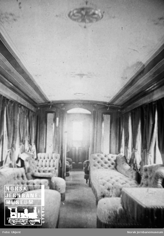 Vestfoldbanens kongevogn, interiørbilde