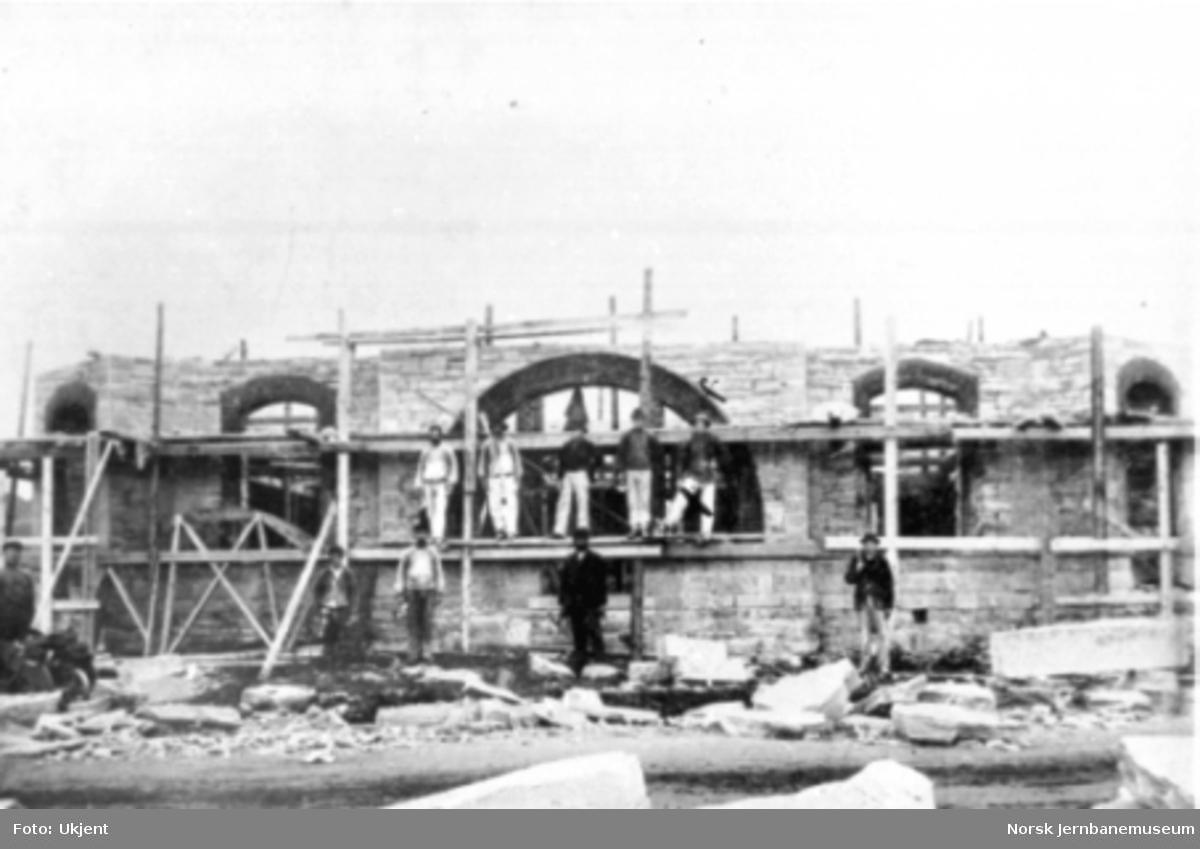 Stjørdal stasjonsbygning under bygging