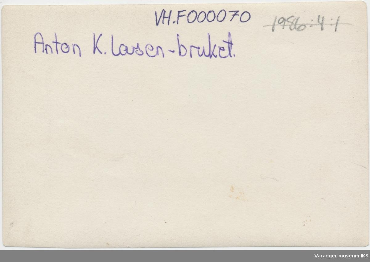 Russiske og samiske arbeidere på Anton K. Larsens kaianlegg i Vestervågen