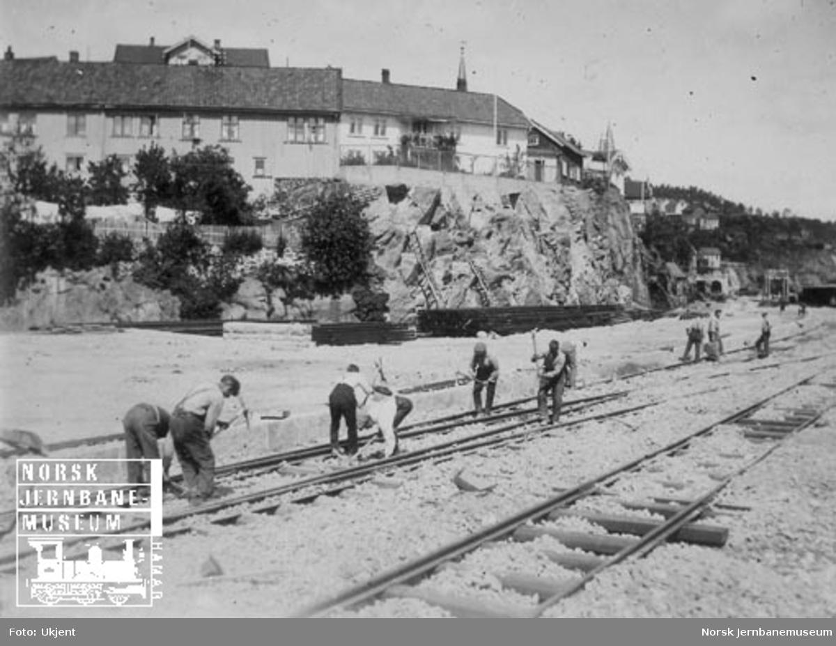 Pakking av sporet på Kragerø stasjon