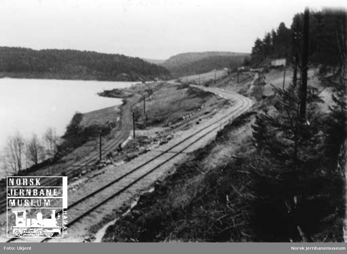 Gåseflå-omleggingen : over Gåseflåjordene, sett fra nord