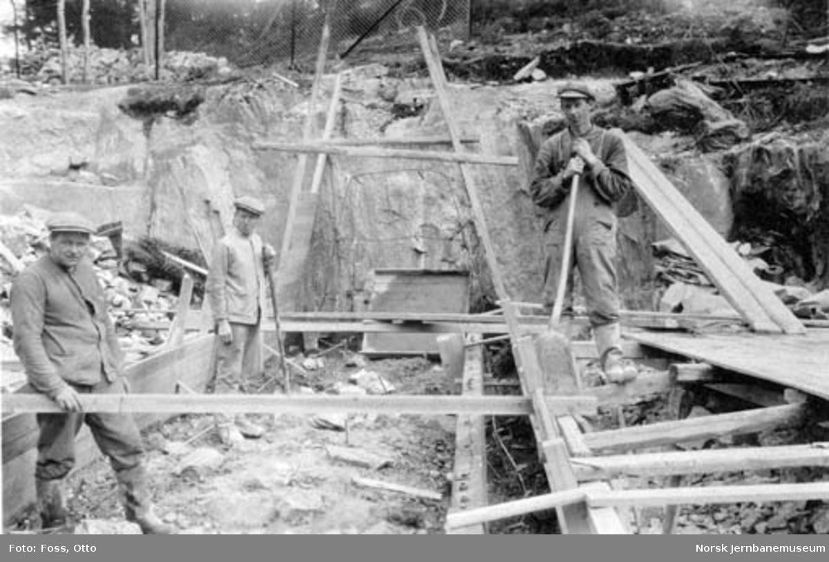 Ommuring av dam ved Fjellhamar Bruk