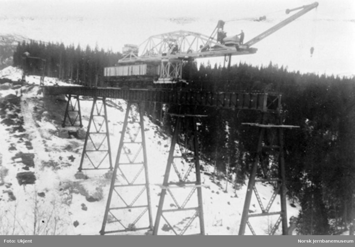 Røttesdal viadukt : montering av 5. spenn