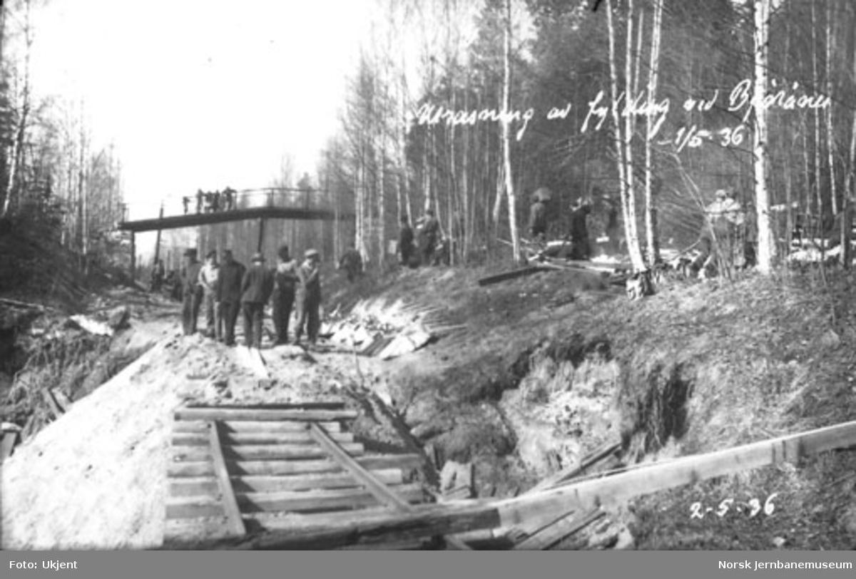 Utrast fylling ved Bjørånes, kilometer 259,6