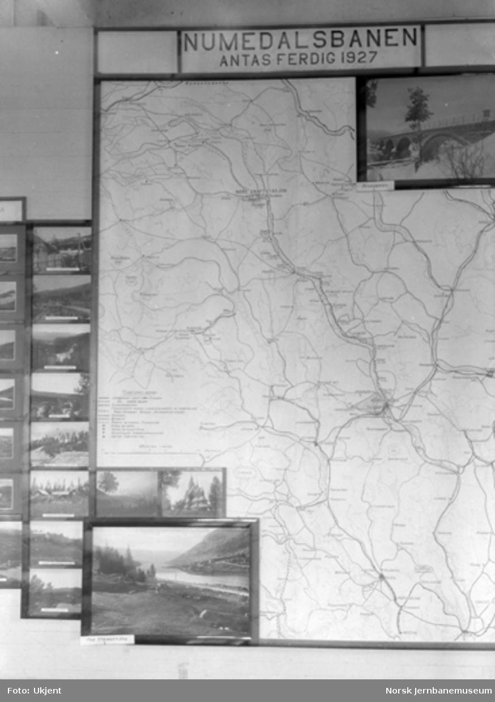 Stand om Numedalsbanen på utstilling på Kongsberg