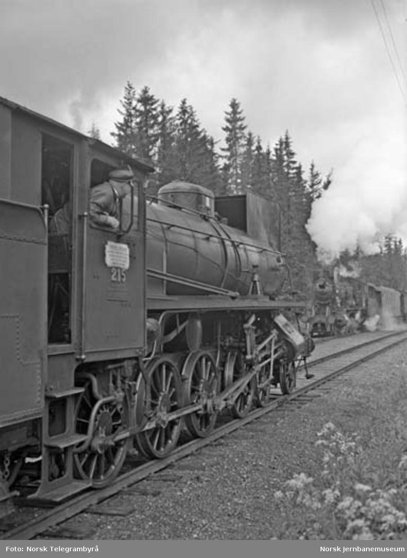 """Maskinen og """"beitet"""" - en tur med godstog 5283 Hamar-Lillehammer - kryssing"""
