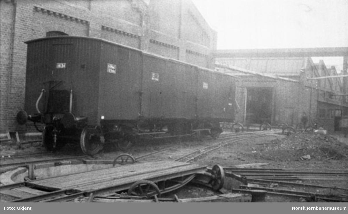 Lukket godsvogn litra Gfo nr. 14134
