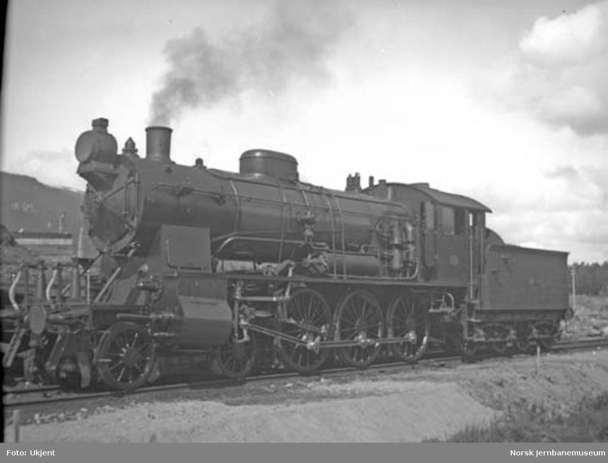 NSB damplokomotiv type 30b nr. 361 på Oppdal stasjon