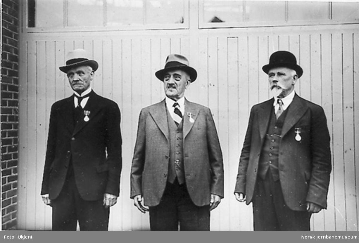 Tre formenn på Skabo, Andersen, H. Olsen og O. Olsen