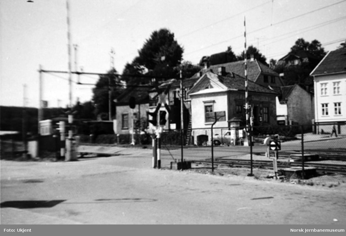 Planovergang ved Larvik stasjon