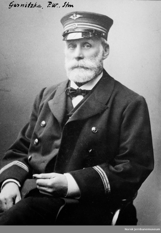 Portrett av stasjonsmester P. W. Gornitzka
