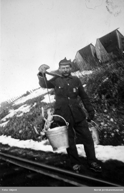 Russerfange på banearbeid på Saltfjellet