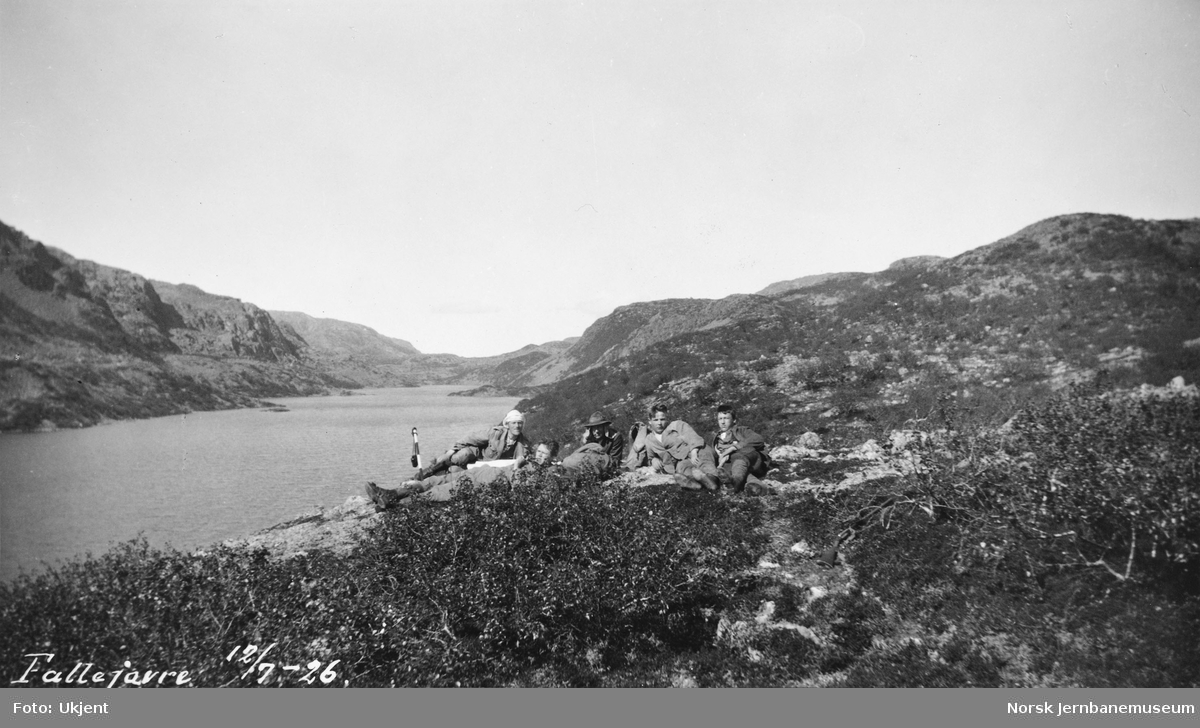 Jernbanestikking i Finnmark : rast ved Fállejávri