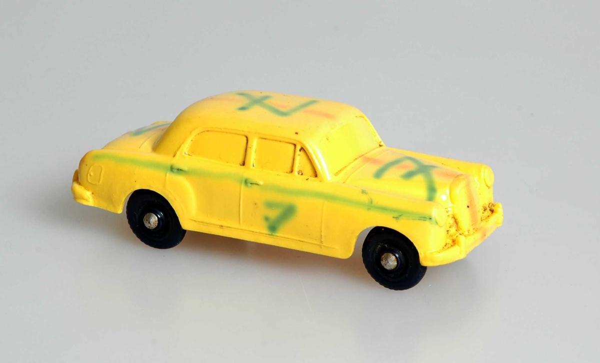 """Givers opplysninger: """" Mercedes 180 produsert av Tomte-Lærdal i Stavanger 1958 """"."""