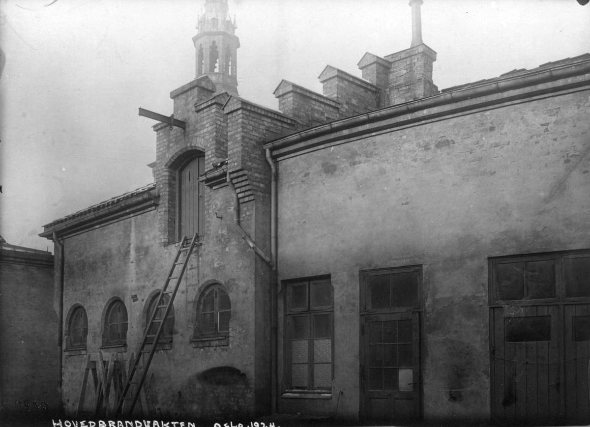 Hovedbrannvakten, Oslo 1924. Fra gårdsrommet.