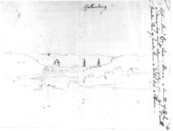 "GøteborgFra skissealbum av John W. Edy, ""Drawings Norway 18"