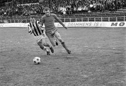 Serie. Fotballkamp mellom Skeid og Sarpsborg på Ullevål stad