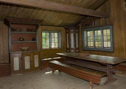 Interiør i Barfrøstue fra Gammelstu Trønnes i Stor-Elvdal. Ø