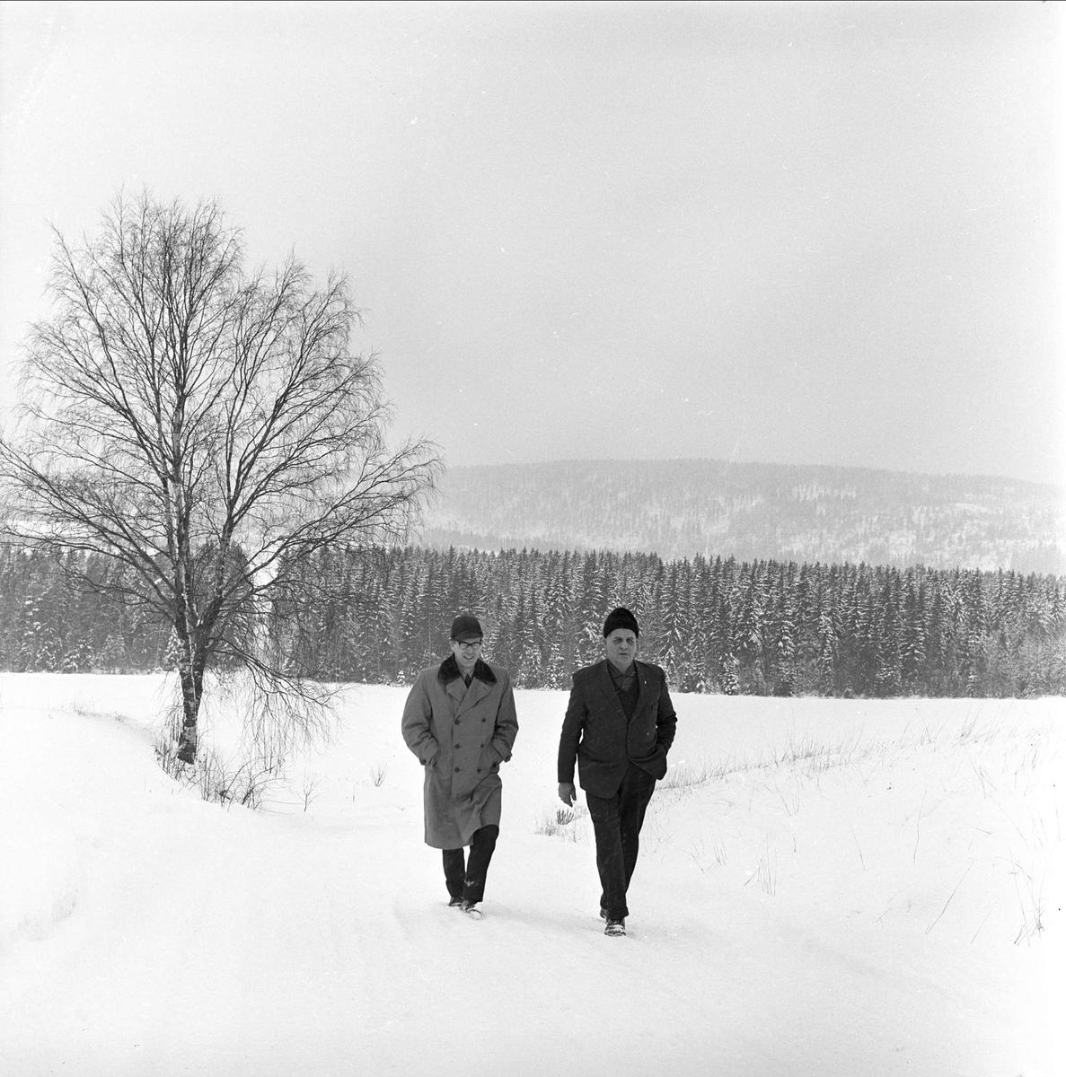 To menn kommer gående, Aurskog, januar 1965