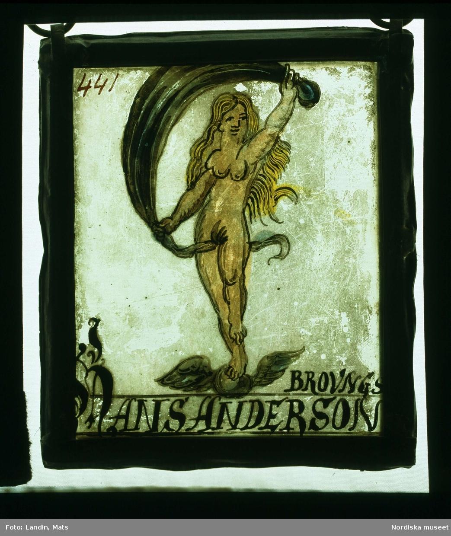 Gåvoglas från 1600-talet. Fanns hos Hans Andersson i Visby.