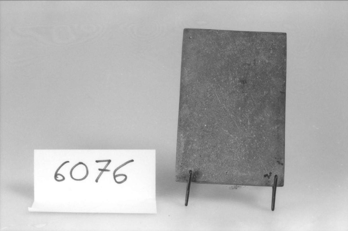 Stenplatta använd av garvare.