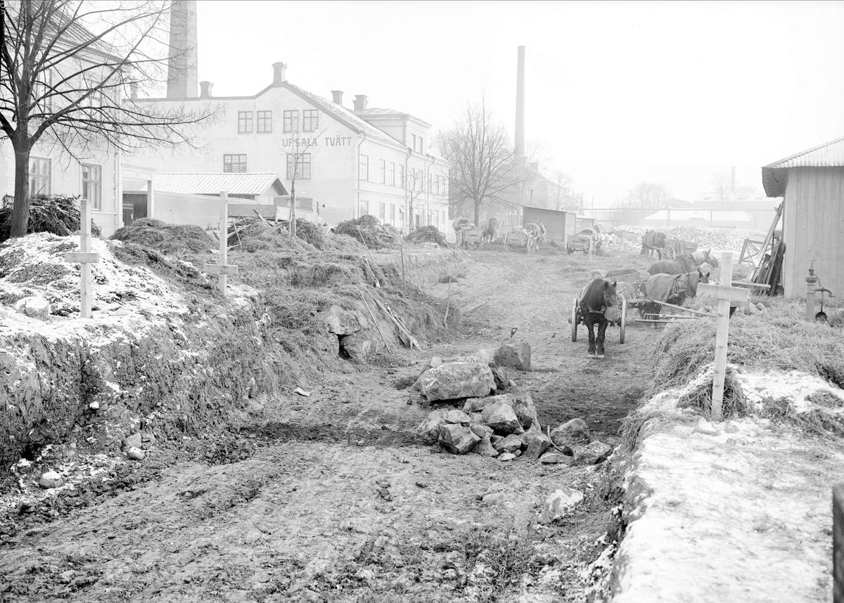 Arkeologisk undersökning, Uppsala hamn, kvarteret Tullen, Uppsala