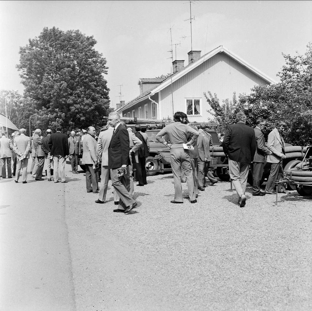 Tierps storkommun får nytt brandförsvar, Tierp, Uppland juni 1973