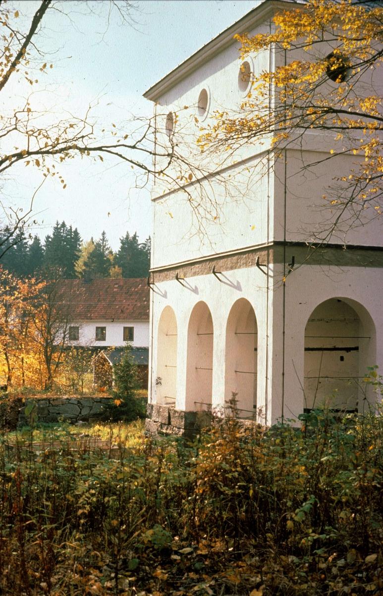 Masugn i Vällnora bruk, Knutby socken, Uppland 1977