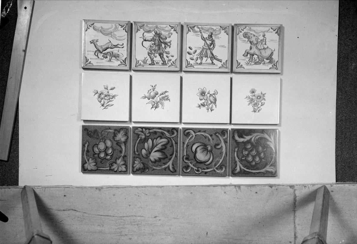 Kakelplattor från Upsala- Ekeby AB, Uppsala 1939