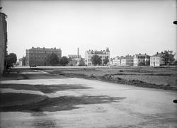 Vaksala torg innan bygget av Vaksalaskolan, Uppsala, sannolikt tidigt 1920-tal
