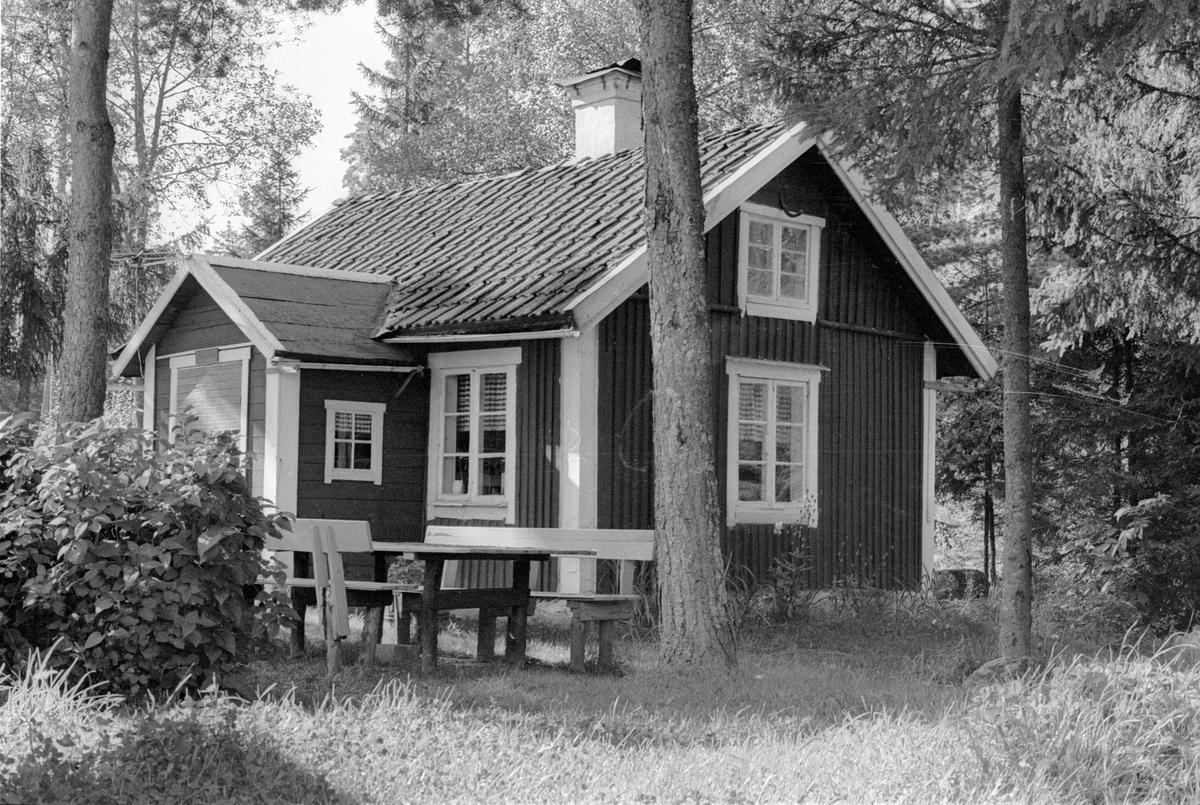 Sidokammarstuga, Kraft Gustavs stuga, Hånsta 1:5, Hånsta, Lena socken, Uppland 1978