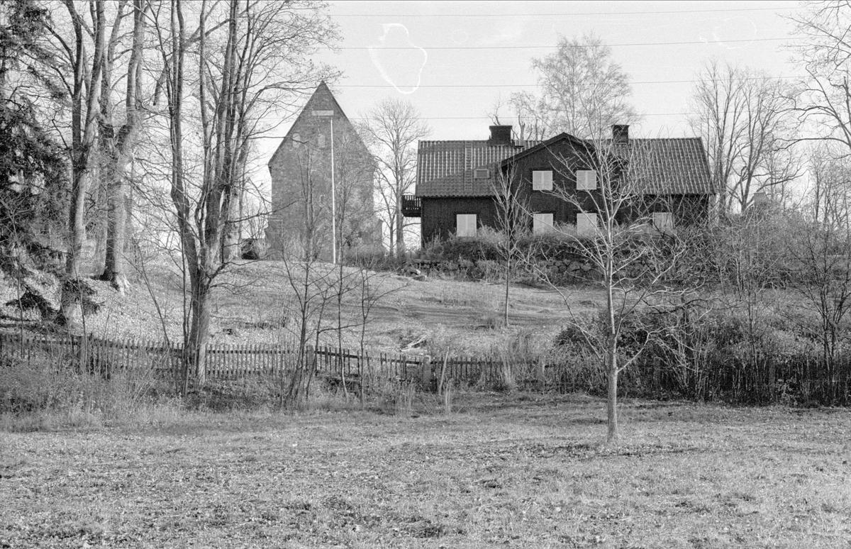 Bostadshus, Prästgården, Gamla Uppsala, Gamla Uppsala socken, Uppland 1978