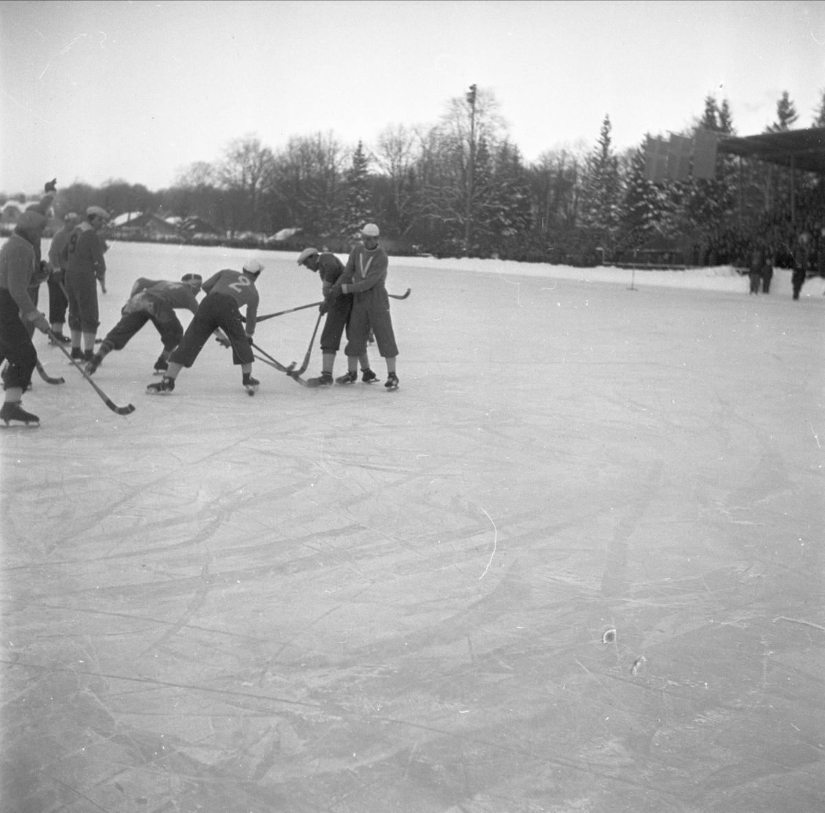 Bandy - IF Vesta - Brobergs IF, Studenternas Idrottsplats, Uppsala januari 1948